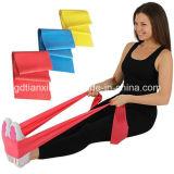 Faixa do látex do estiramento da resistência do exercício