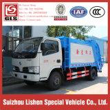 환경 기계장치 위생 쓰레기 쓰레기 압축 분쇄기 트럭 전기 싼 DFAC 4 Cbm 쓰레기 트럭
