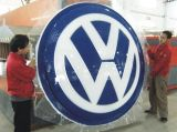 Luz de logotipo clara fixada na parede do carro do logotipo do carro do diodo emissor de luz 4s