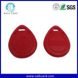 熱い販売のカスタム印刷赤いRFIDの主札(13.56MHz)