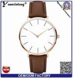 Relógio de pulso popular dos homens de faixa do couro do tipo de Sinobi da forma Yxl-938 2014 nova