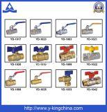 1/2-4 도금되는 니켈 측량 벨브 (YD-1023)를 위한 금관 악기 공 통제 벨브
