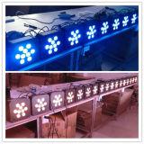 luz plana de la decoración de la boda de 9X15W Rgbaw 5in1