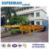 De Semi Aanhangwagen van de Lading van het Vervoer van het Frame van de Container van het Skelet van twee As