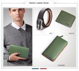 Saco de embreagem feito sob encomenda do punho do couro das bolsas do couro do saco do desenhador de moda