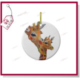 3 '' Sublimation Plain White Round Porcelain Ornament para Christmas Gifts