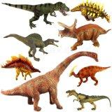 Figura plástica dos desenhos animados do brinquedo do dinossauro do vinil