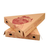 Eco-Friendly Cheap Kraft Paper Pizza Slice Box 또는 Packaging Box