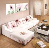 Sala de estar moderna barato de madera cubierta de espuma Sofá