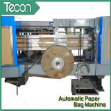 Предварительным полноавтоматическим мешок управляемый мотором бумажный делая машину