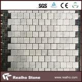 Mattonelle di mosaico di pietra di marmo bianche pure cinesi per la parete