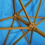 Напольный зонтик 8FT патио & пляжа высокомарочный аттестовал учредительством UV Upf 50+ Cancer кожи усиленным с нервюрами металла на более ветреные дни (свет - синь)