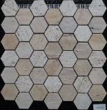 Мозаика Смешанного Цвета Строительного Материала Шестиугольная Естественная Каменная (FYSC364)
