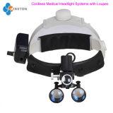 LEDのヘッドライトモデルKs-W01 +2.5Xルーペ、E.N.Tランプ5Wのヘッドランプ、点ライト、歯科医、獣医、Dermatologistの身体検査ランプ