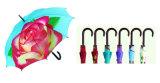 Gerades Automatic Umbrella mit Rose Printing (YS-SA25081007R)