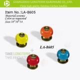 도매 장식적인 다채로운 둥근 세라믹 서랍 내각 손잡이