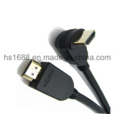 Soportes de cable de ángulo recto de HDMI 3D y vuelta del audio