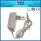 adaptador de enchufe de pared de la UE de 5V 1.2A con el color blanco