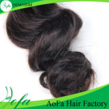 Выдвижение волос девственницы Unprocessed объемной волны способа людское