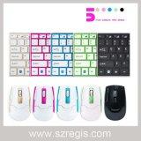Nuevos mini ratón y teclado sin hilos delgados de aluminio del ordenador 2.4G