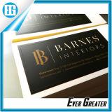 Kundenspezifischer eleganter schwarzer Förderung-Slogan-anhaftender Aufkleber Lebel