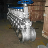 válvula de porta da extremidade da flange de Wcb do aço de carbono do molde de 150lb 300lb