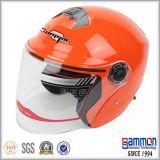 De de oranje Open Motor van het Gezicht/Helm van de Motorfiets/van de Autoped (OP229)
