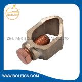 Braçadeira de cobre/de alumínio da sela do cabo do sistema de proteção do enterramento e do relâmpago