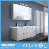 2側面の虚栄心および2個の洗面器(BF116N)との高い受け石の浴室の虚栄心
