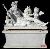 Garten-Statue, statuarische, geschnitzte Steinskulptur (GS-S-076, GS-S-077, GS-S-078)