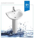 Lavabo de cerámica del lavabo del lavabo del lavabo de Weidansi (WDS-P7205)