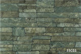 Porcellana Artificial Green Stone Exterior Wall Tile per House (333X500mm)
