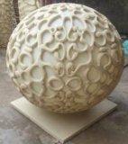 砂岩によって切り分けられる彫刻の庭の球の可聴周波スピーカーLEDランプのランタン