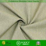 Tela do poliéster e de algodão com teste padrão da listra para a camisa