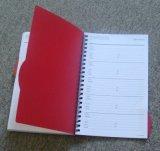Libro espiral de la nota del asunto para el uso promocional con la cubierta dura