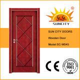 Двери хозяйственного Veneer картины нутряного твердого деревянные (SC-W045)