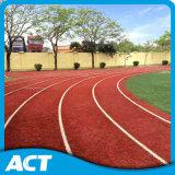 Relvado sintético Não-Infilled profissional do ato para a pista de decolagem, grama artificial da trilha Running