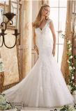 Новое Горяч-Продавая подгонянное платье венчания Mermaid невесты 2016,