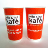 Doppel-wandiges Paper Cup mit Lids für Coffee/Hot/Cold Drinking