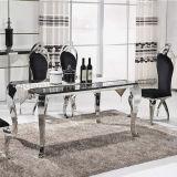 Tabela de jantar de mármore moderna italiana de 6 pés do aço inoxidável de Seaters