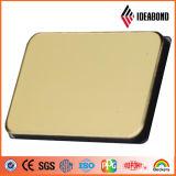 El panel de aluminio compuesto del final del espejo del oro para la tarjeta del letrero y del departamento hecha en la construcción Companiy de China