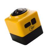 Câmera video WiFi H. 264 dos esportes do cubo 360 mini 360 graus de câmera do panorama