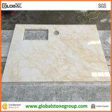 石造りの家具の建築業者またはインテリア・デザイナーのための磨かれた大理石のテーブルの上