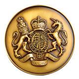 Zinc Alloy Die Casting Antique Souvenir Coin with Gold Finish