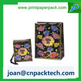 Riddon 호화스러운 손잡이 종이 봉지에 꽃이 많은 인쇄