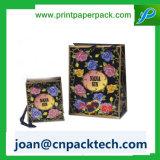 Riddonの贅沢なハンドルの紙袋と花いっぱいの印刷
