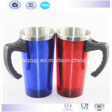 Edelstahl Car Mug Travel Mug mit Plastic Handle und Lid