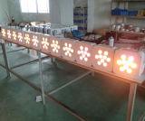 РАВЕНСТВО перезаряженное батареей свадебного банкета 9PCS Rgbaw диско СИД
