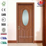 Дверь ровной спальни стеклянная деревянная