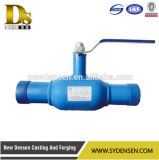 Calor del gas y vávula de bola completamente soldada usada agua de flotación